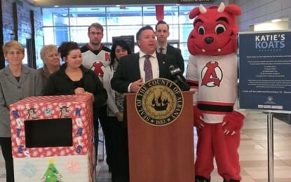 County Executive Dan McCoy leads annual coat drive