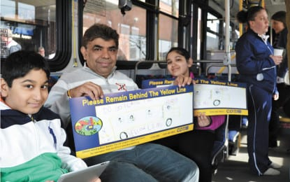 Local children brighten up CDTA buses