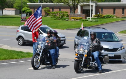 Motorcade, ceremony honor war dead