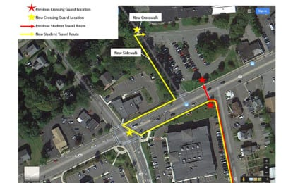 New route for Elsmere Elementary School walkers
