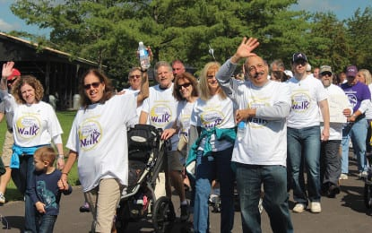 Mood lightens at annual walk