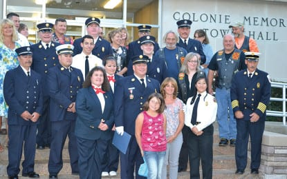 Colonie honors local firefighter