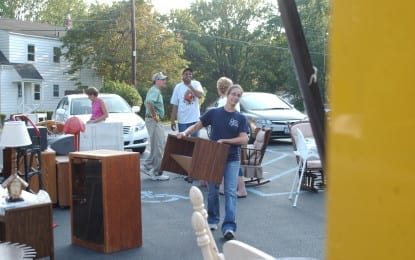 Furniture for flood victims