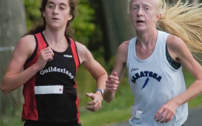 Cross country: Emily Burns out-kicks Peyton Engborg for first place