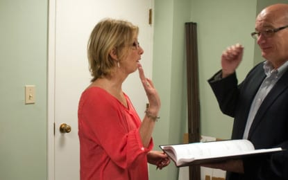 New Voorheesville trustee sworn in