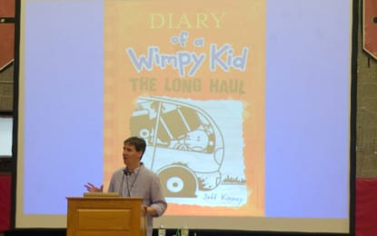 The man behind the wimpy kid