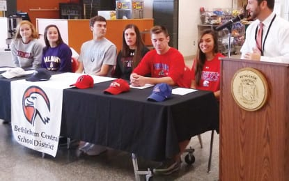 Six sign their letters of intent