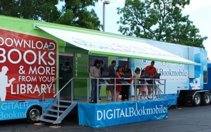 Books on screen, and on wheels
