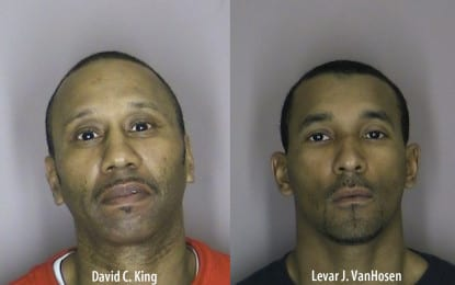 Two arrested on charges of counterfeiting