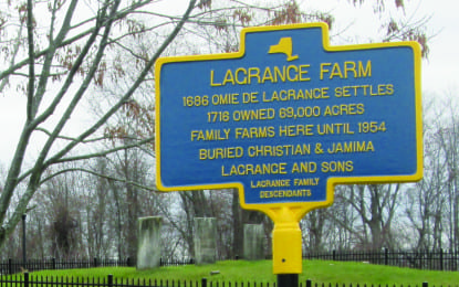 A pioneering family: a historical marker commemorates the LaGrange Farm