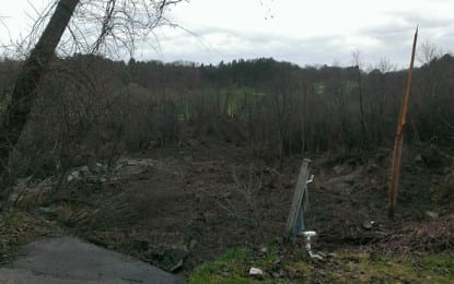 UPDATE: Mudslide along Normans Kill blocking water flow