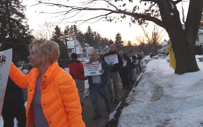 Angry citizens once again protest privatizing Maplewood