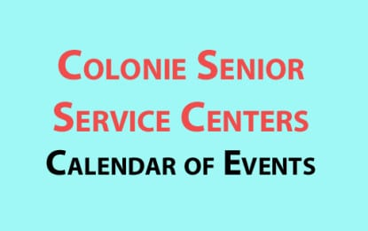 Colonie Senior Service Centers August 2016 calendar
