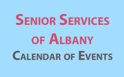 Senior Services of Albany August 2016 calendar