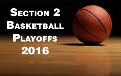 Section 2 Class AA basketball playoff brackets released