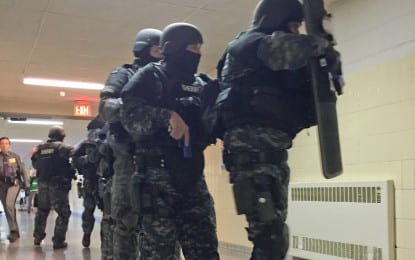 Practice makes perfect: Local law enforcement agencies participate in active response exercise at Voorheesville High