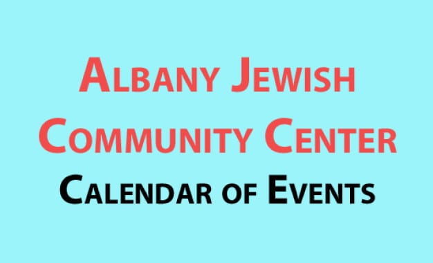 Albany Jewish Community Center calendar of events for January 2017