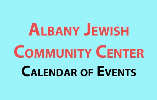 Albany Jewish Community Center August 2016 calendar