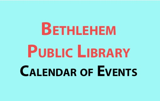 Bethlehem Public Library calendar of events for January 2017