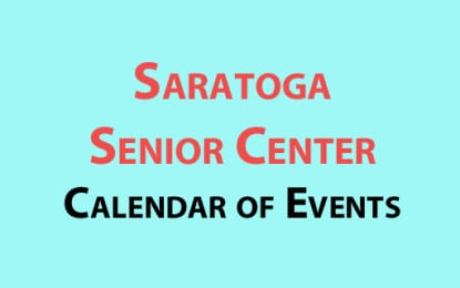 Saratoga Senior Center November events calendar