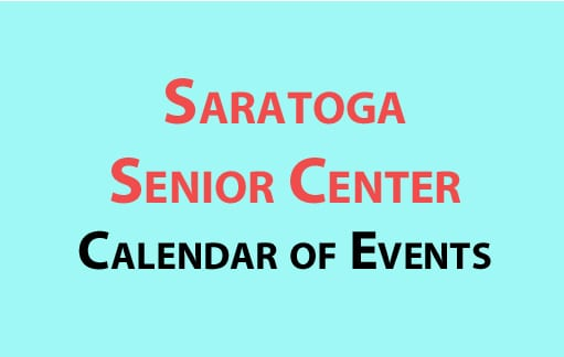 Saratoga Senior Center calendar of events for January 2017