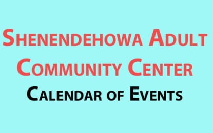Shenendehowa Adult Community Center August 2016 calendar