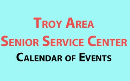 Troy Senior Center September 2016 events
