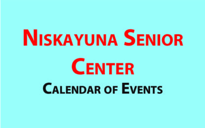 Niskayuna Senior Center August 2016 calendar