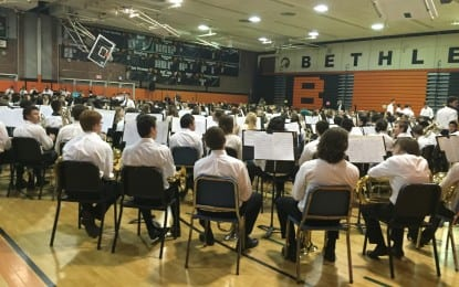 All together now: High school students perform concerts with elementary, middle school students for Bethlehem Central School District's annual Band Festival