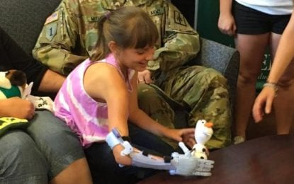 Lending a helping hand: Siena College students 3D print arm for local elementary schooler