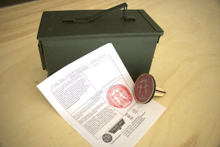 Troy organization launches geocaching project:  Find eight hidden boxes with eight original stamps commemorating bicentennial