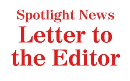 LETTER to the EDITOR: Just for the record