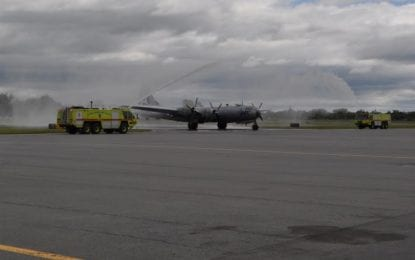 Commemorative Air Force's iconic Boeing B-29 Superfortress FIFI lands at Albany International Airport for week-long stay