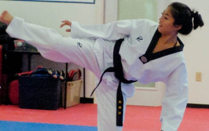 One step closer: Jamie Lam qualifies for AAU national taekwondo team trials