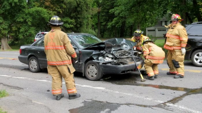 Two-car accident on New Scotland Avenue sends one person to the hospital
