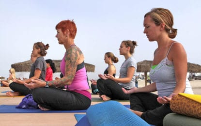 The here and now: 'Here now is Yoga. Yoga is to still the fluctuations of the mind'