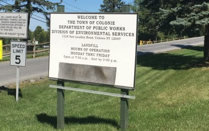 Trash talk in Colonie; residents concerned with landfill expansion