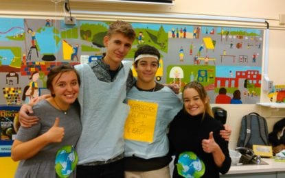 On America Recycles Day, Bethlehem Lab School students educate elementary schools
