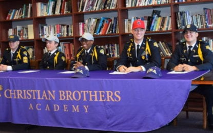 Five CBA athletes signed National Letters of Intent November 10