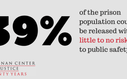 "Brennan Center for Justice: ""Nearly 40 Percent of Americans Unnecessarily Behind Bars"""