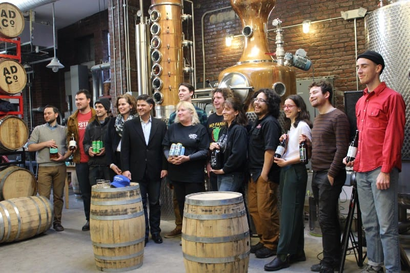 Amedore, Fahy announce legislation to bring parity to New York state craft distillers, allowing them to serve locally sourced spirits by the glass