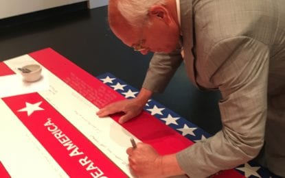 "Until inauguration day, Tang Teaching Museum invites public to share thoughts on politics, democracy, citizenship as part of ""Dear America,"""