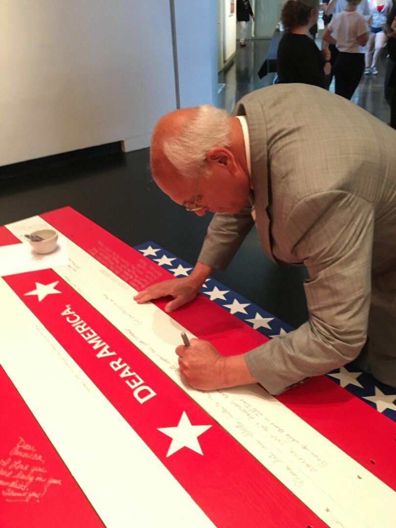 """Until inauguration day, Tang Teaching Museum invites public to share thoughts on politics, democracy, citizenship as part of """"Dear America,"""""""