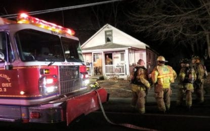 Selkirk house fire; damage contained to the second floor