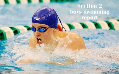 Section 2 boys swimming: Top three times entering second half of dual meet season