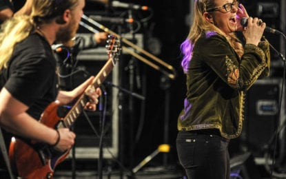 Tedeschi Trucks Band playing at SPAC on July 3