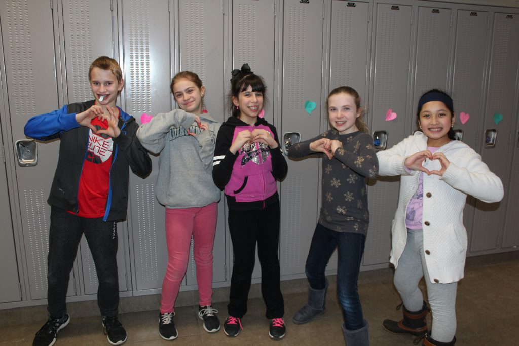 Bethlehem Middle School students share the love