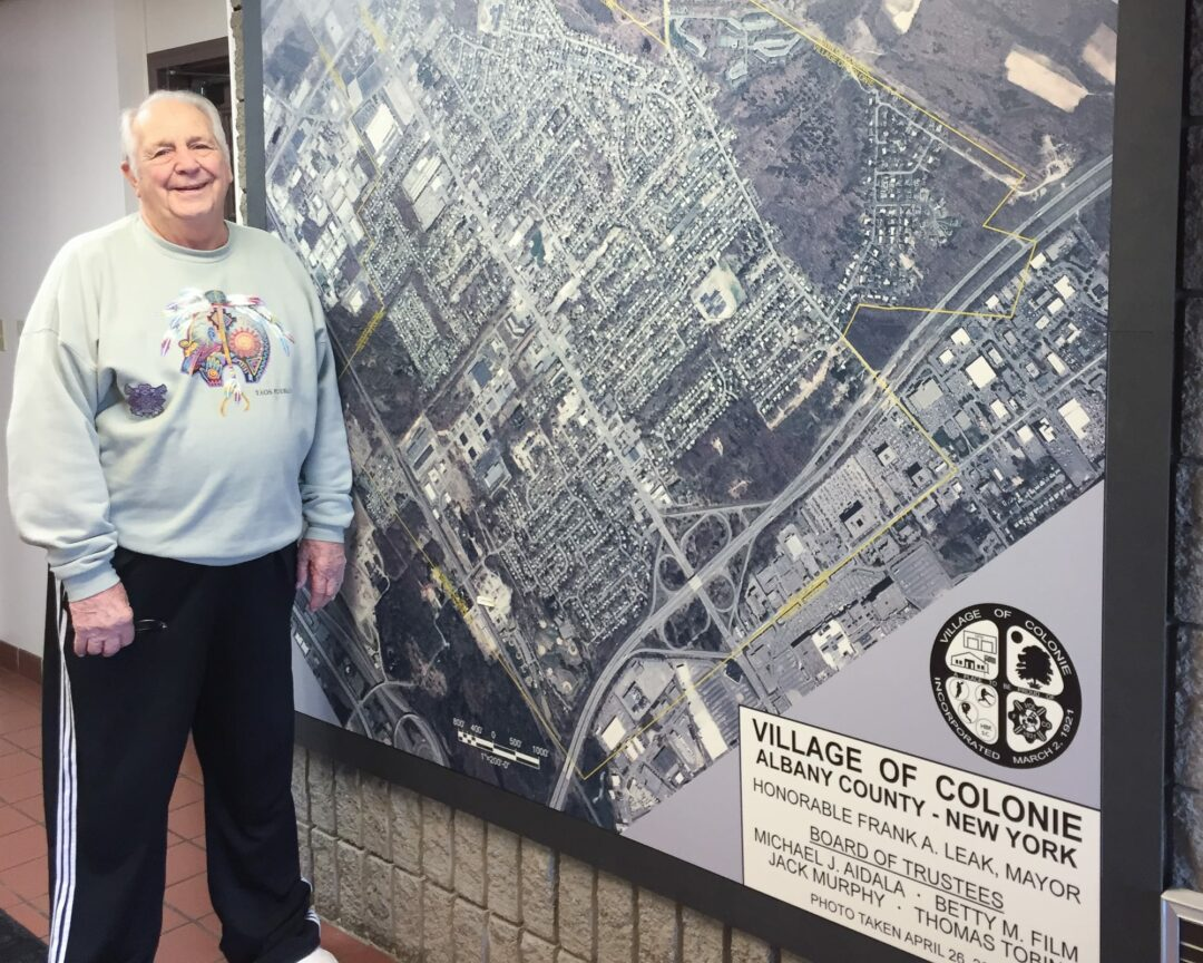 Colonie Village Mayor Frank Leak turns 90