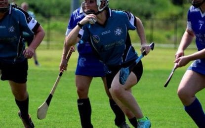 Ancient sport resembling a clash of baseball, hockey and lacrosse is played locally