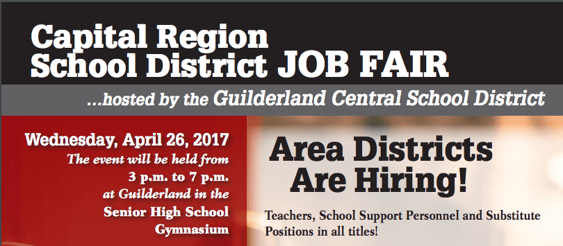 Guilderland CSD Job Fair tomorrow, April 26